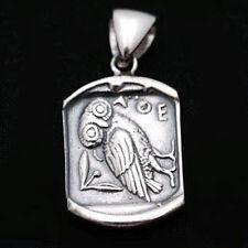 Greek Goddess Athena's Wise Owl~Sterling Silver Pendant