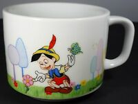 Vintage WALT DISNEY PRODUCTIONS PINOCCHIO Porcelain Coffee Cup or Mug  DD Stamp