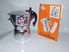 CAFFE' RAPID CAFFETTIERA ALLUMINIO PURO 99,5% 6-TZ NO-BIALETTI CASAFASHION