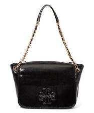 824c9a3715b0 Tory Burch Charlie Patent Small Flap Shoulder Bag Black NWT