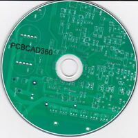 PCBCAD360 2020 PCB CAD design software Windows Vista, 7, 8 and 10 only on CDROM