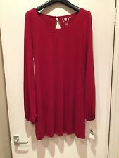 Rouland Mouret for Gap red wool round neck dress UK 8