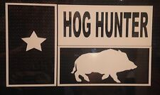 Texas Flag Hog hunter decal, hunting, white tail, car, truck, boat, window, boar