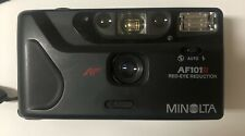 Minolta AF101R 35mm Point Shoot Camera - Black - Red Eye Reduction