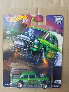 HOT WHEELS 2018  [DRAG STRIP DEMONS] '55 CHEVY BEL AIR GASSER [GREEN]