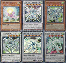 Shooting Star + Shooting Quasar + Stardust Dragon + Majestic Dragon - NM Yugioh