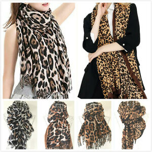 Womens Multiple Leopard Patterns Print Scarf Ladies Wrap Large Lightweight Shawl