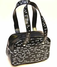 FU*K BLACK/ WHITE CLUB  SATCHEL PURSE  GOTHIC ROCKABILLY TEEN