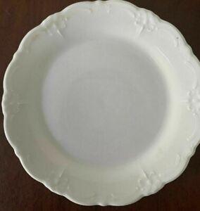 "ESTATE! TIRSCHENREUTH  LOT 0F 4 WHITE CERAMIC EMBOSSED SCALLOPED 7"" CAKE PLATES"
