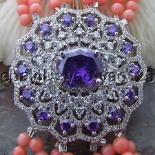 """8"""" 8 Strands Pink Coral Bracelet CZ Connector"""
