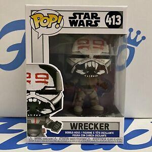 Funko Pop Vinyl - Star Wars Wrecker #413 The Clone Wars Bad Batch New