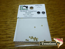 """20 PACK GOLD 5/64"""" 2mm SLOTTED TUNGSTEN BEADS HEAD - NEW FLY TYING MATERIALS"""