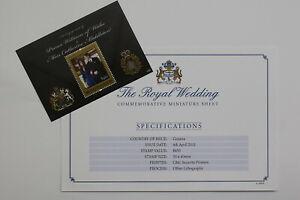 GUYANA 2011 $450 STAMP SHEET ROYAL WEDDING B21 K88-1