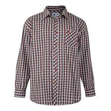 Camicie casual da uomo rossi con colletto regolare