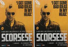 MARTIN SCORSESE FILM POSTCARDS  X 2 - TAXI DRIVER ROBERT DE NIRO