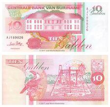 Suriname 10 Gulden 1996 P-137 Banknotes UNC
