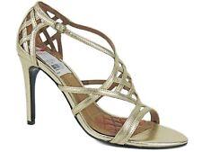 LAUREN Ralph Lauren Women's Sydney Dress Sandals Platino Gold Leather Size 5 B