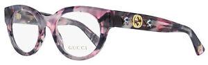 Gucci Oval Eyeglasses GG0209O 003 Pink-Gray Havana 48mm 209