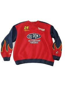 Vintage Chase Authentics Dupont NASCAR #24 Jeff Gordon Flame Sweatshirt XL