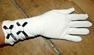 gants TU femme long 30cm  avec noeuds opéra glove cocktail soirée mariage g29