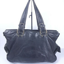 Marc Jacobs Black Leather Satchel Made in Italy RARE Shoulder Handbag Tote Purse