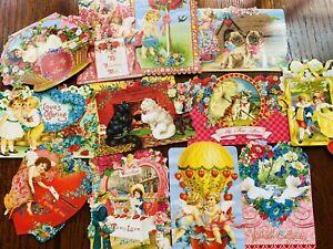 Lot of 17 Valentine Punch Studio Note Cards. Rare Ephemera Cards! Punch Studio!