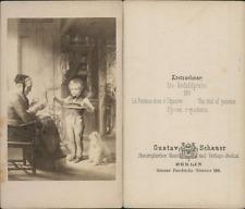 """G.Schauer, scène de vie """"la patience mis à l'épreuve"""" d'après dessin V"""