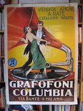 Grafofoni Columbia - Riesenplakat - Topzustand - Vintage Reklame