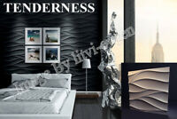 3D Decorative wall panels ABS Plastic molds Plaster Gypsum alabaster TENDERESS