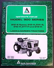 Allis Chalmers Model 900 Series Lawn and Garden Tractor Operators Manual