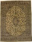 Gold Washed-out Semi Antique 10X13 Traditional Oriental Rug Home Decor Carpet