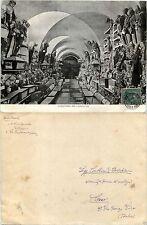 """REGNO-5(+5)c Garibaldi su Maxi cartolina """"Catacombe dei Cappuccini"""" Palermo 1910"""
