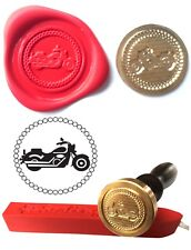 Wax Stamp, MOTORBIKE Motorcycle Vehicle Coin Seal and Red Wax Stick XWSC128-KIT