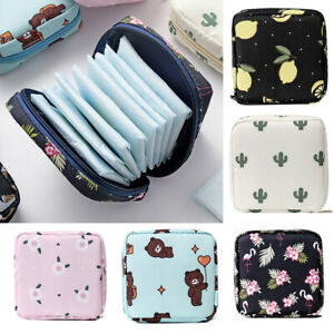 Womens Sanitary Storage Bag Pad Pouch Napkin Towel Credit Card Holder Purse Bags