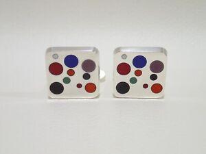GEORG JENSEN #93A sterling silver Domino cufflinks