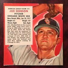1953 Redman Tobacco Set JOE DOBSON no tab #AL 15 CHICAGO WHITE SOX - EX-MINT