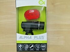 ALPHA PLUS BIKE LIGHTS AP33B FRONT AND REAR BATTERIES INCLUDED