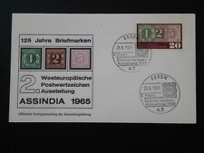 stamp on stamp Assindia 1965 FDC Germany 66518