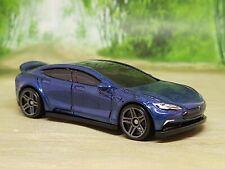 Hot Wheels Tesla Model S Diecast Model Car 1/64 - Excellent Condition