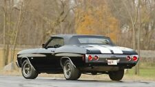 NEW 1968-1972 Chevelle/Malibu Black Vinyl Convertible Top, with Glass & Pads