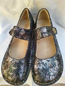 Alegria Paloma Leather Rocker Heel Orthotic Comfort Mary Jane Shoes EUR 41 UK 7