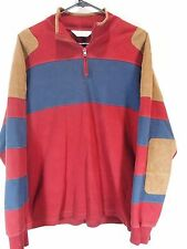 ORVIS 1/2 ZIP PULLOVER RUGBY POLO SHIRT Men's M Medium Cotton Shooting SAILING