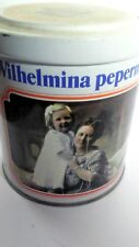 Wilhelmina Pepermunt Peppermint Tin Netherlands Twist Lock Top EMPTY