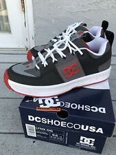 DC Shoe Co. OG Lynx Grey/Red Josh Kalis Skateboarding Size 9.5