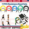 11 PCS Resistance Bands Set Yoga Pilates Abs Exercise Fitness Tube Big Sale USPS