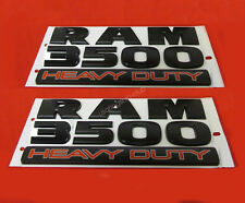 2x OEM Matte Black Dodge RAM 3500 HEAVY DUTY Emblem Badges 3D Decal F New Mopar