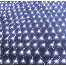 LED Lichternetz Kaltweiß Lichtervorhang Garten Lichterkette 8 Modi Weihnachten