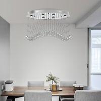 "31.5"" Elegant Crystal Chandelier Ceiling Lighting Fixture Pendant Hanging Lamp"