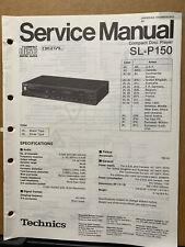 Service Manual for the Technics SL-P150 SL-P128 SL-P127 CD Player ~ Repair