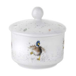 Royal Worcester Wrendale Covered Sugar Bowl Pot with Lid Porcelain Duck Country